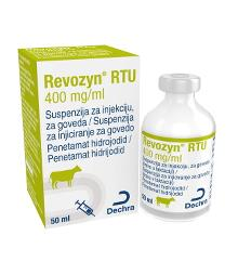 Revozyn RTU, 400 mg/mL, suspenzija za injekciju, za goveda